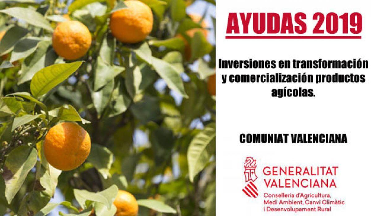 Ayudas para transformación y comercialización Agro 2019