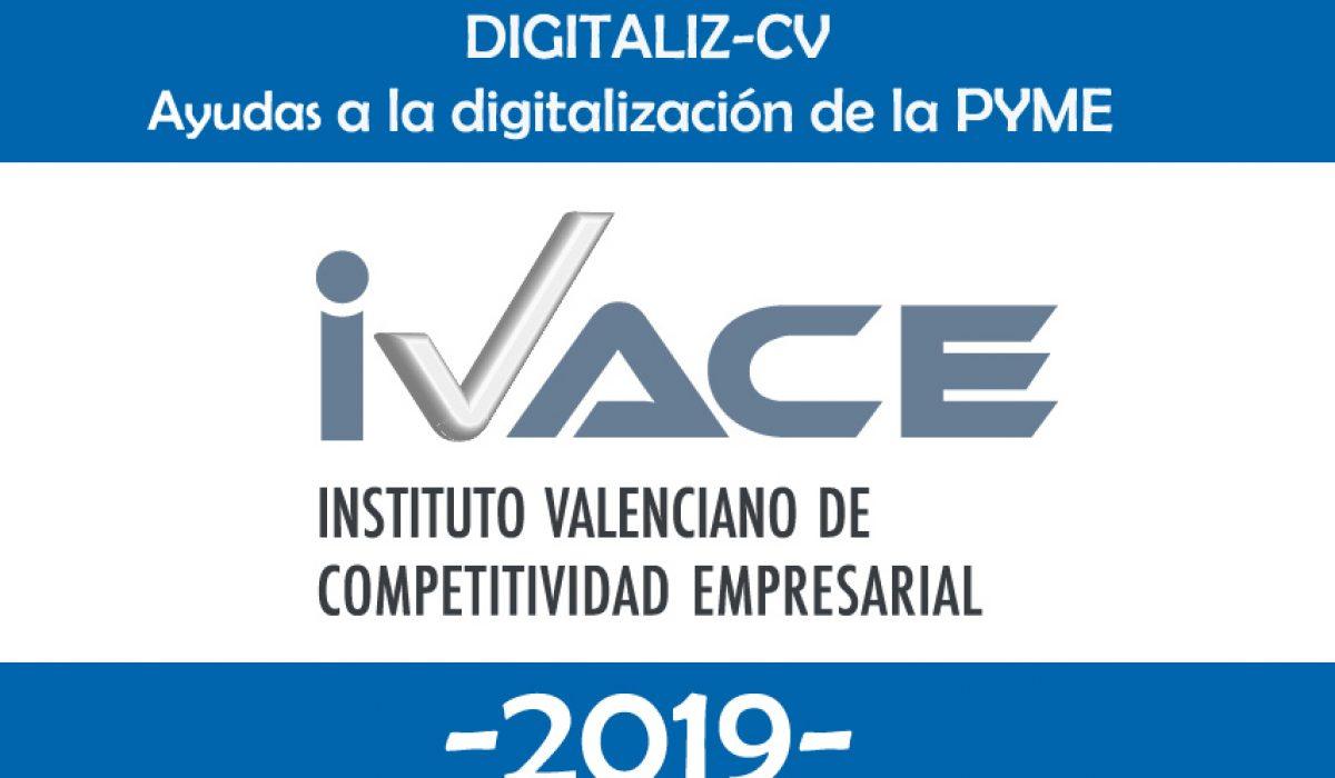 """Consigue hasta 200.000€  para digitalizar tu empresa con la ayuda """"DIGITALIZA-CV 2019"""""""