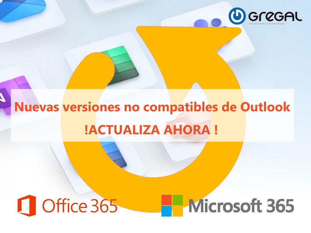 Actualización de Microsoft 365 y Outlook para la conectividad de Windows