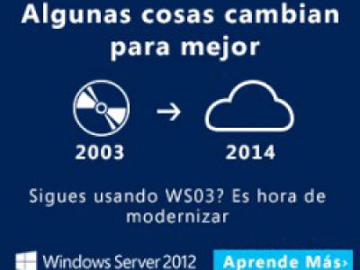 Fin del soporte a Windows Server 2003 el 14 de Julio