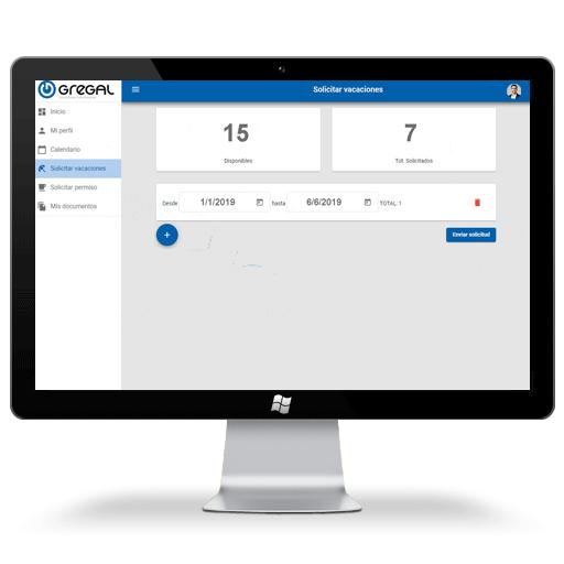 Software portal del empleado gestión de vacaciones
