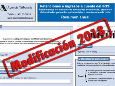 Nuevo modelo 190 y nuevos diseños de registro para presentarlos en el 2018 (AEAT)